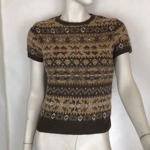 Ralph Lauren Sport vintage brown Fair Isle sweater